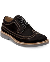 Florsheim Bucktown Suede Wing Tip Oxfords Men's Shoes Black