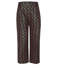 Marni Cropped Jacquard Trousers Multicoloured
