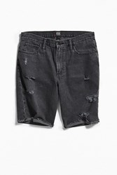Bdg Black Distressed Denim Short Washed Black