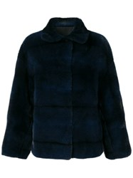 Liska Collared Jacket Blue