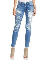 Hudson Ciara Exposed Button Skinny Jeans In Airstrike