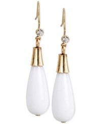 Inc International Concepts M. Haskell For Inc Gold Tone Briolette Color Drop Earrings Only At Macy's White