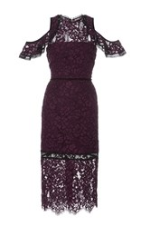 Alexis Evie Cold Shoulder Lace Dress Burgundy
