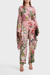 For Restless Sleepers Etere Printed Silk Trousers