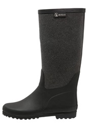 Aigle Venise Wellies Noir Gris Black
