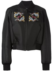 Marcelo Burlon County Of Milan Tiger Print Bomber Jacket Black