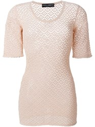 Dolce And Gabbana Crochet Top Pink And Purple