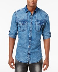Inc International Concepts Men's Denim Shirt Only At Macy's Chambray