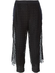 Kolor Lace Overlay Trousers Black