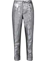Les Animaux Straight Trousers Metallic