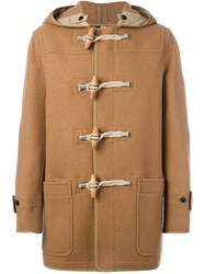 Burberry Hooded Duffle Coat Brown