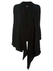 Lost And Found Waterfall Front Cardigan Black