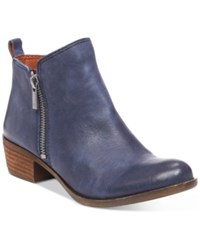 Lucky Brand Women's Basel Booties Women's Shoes Indigo Leather