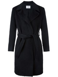 Ports 1961 Belted Trench Coat Black