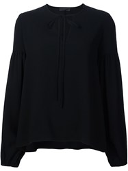 Co Bell Longsleeved V Neck Blouse Black