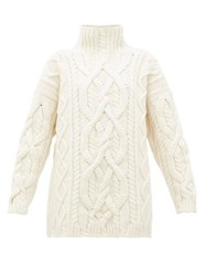 Connolly Cable Knit Merino Wool Blend Sweater Ivory