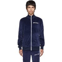Palm Angels Blue Chenille Track Jacket