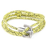 Anchor And Crew Union Rope And Silver Bracelet Yellow Noir