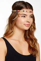 Cara Accessories Feather And Tassel Patterned Stretch Headband Multi