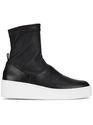 Robert Clergerie Teniera 50 Ankle Boots Leather Rubber Black