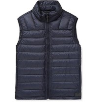 Dunhill Quilted Shell Down Gilet Navy