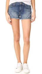 Joe's Jeans Embroidered Cutoff Shorts Distressed Light Blue