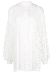 The Row Mesh Style Boxy Fit Shirt White