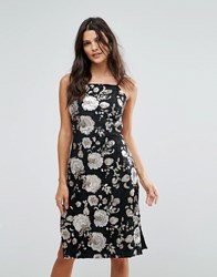 Goldie Sage Metalic Floral Romance Sequin On Mesh Fitted Midi Dress With Adjustable Straps Multi