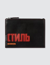 Heron Preston Ctmnb Printed Pouch Black