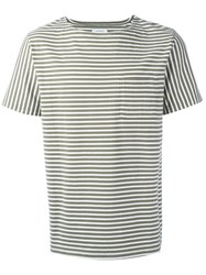 Saturdays Surf Nyc Striped T Shirt Green