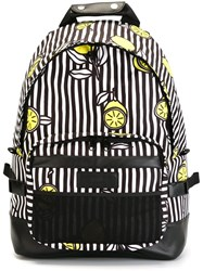 Ami Alexandre Mattiussi Striped Backpack Black