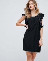 Deby Debo Frill Sides Cocktail Dress Noir Black