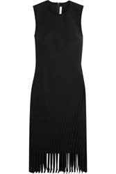 Dion Lee Fringed Knitted Mini Dress Black