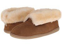 Minnetonka Sheepskin Ankle Boot Golden Tan Women's Shoes