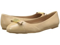 Marc By Marc Jacobs Tuxedo Logo Plaque Ballerina Nude Women's Slip On Shoes Beige