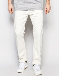 United Colors Of Benetton Regular Fit Jeans In Ecru Cream Beige