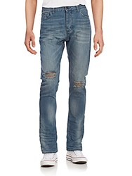 Calvin Klein Jeans Distressed Slim Straight Jeans Sea Floor