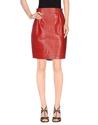 Fay Skirts Knee Length Skirts Women Red