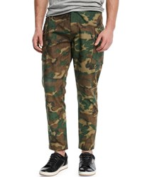 Ovadia And Sons Storm Camouflage Print Utility Pants Green