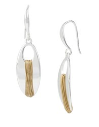 Robert Lee Morris Spun Metal Two Tone Wire Wrapped Earrings Gold