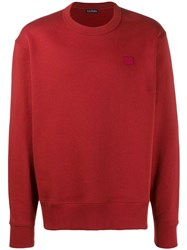 Acne Studios Fairview Face Sweatshirt Red