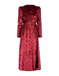Vicolo Long Dresses Garnet