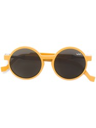 Vava Round Sunglasses Yellow And Orange