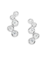 Tai Bubble Pave Stud Earrings Silver