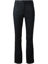 Roberto Cavalli Pinstriped Flared Trousers Black