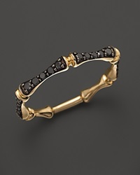 Bloomingdale's Black Diamond Stackable Bamboo Ring In 14K Yellow Gold .30 Ct. T.W.