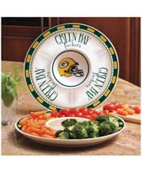Memory Company Green Bay Packers Ceramic Round Chip And Dip Plate Assorted