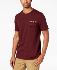 American Rag Men's Beaded Pocket T Shirt Created For Macy's Dark Scarl