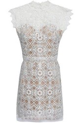 Catherine Deane Kate Lace Mini Dress White
