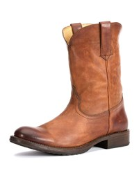 Frye Duke Leather Roper Boot Tan Rdwood